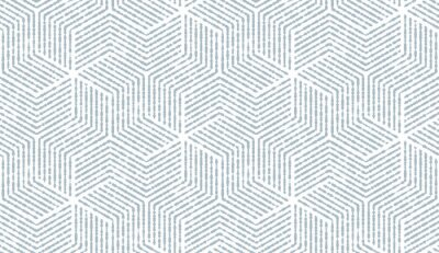 Plakat Abstrakcyjny wzór geometryczny z paskami, linie. Bezszwowe tło wektor. Biało-niebieski ornament. Prosta grafika kratowa