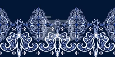 Plakat Abstrakcyjny wzór Paisley z indyjskimi motywami.