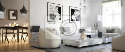 Plakat Adaptacja przestrzeń: salon (panoramiczny)