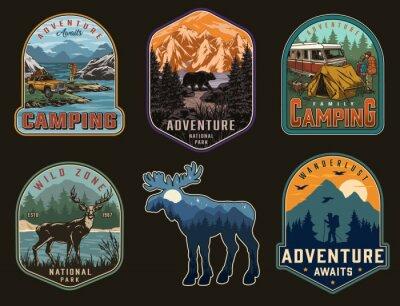 Plakat Adventure time vintage labels