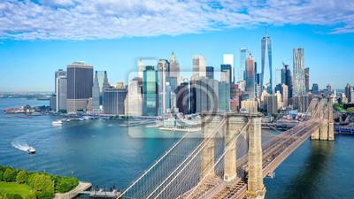Plakat Aerial shot of lower Manhattan in New York