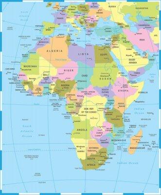 Plakat Afryka Mapa - Ilustracji Wektorowych