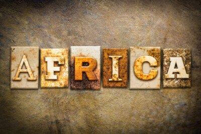 Plakat Afryka Praca typograficznego Skóra Theme
