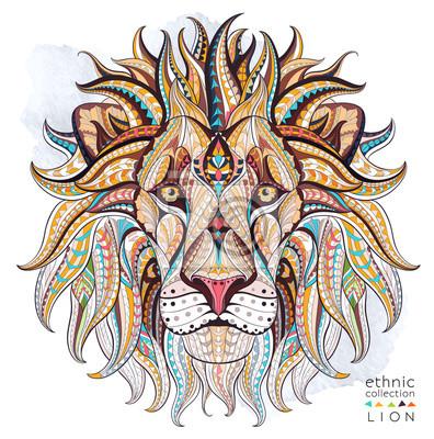 Plakat Afrykański / indian design / totem / tatuaż. Może być stosowany do projektowania t-shirt, torby, pocztówka, plakat i tak dalej.