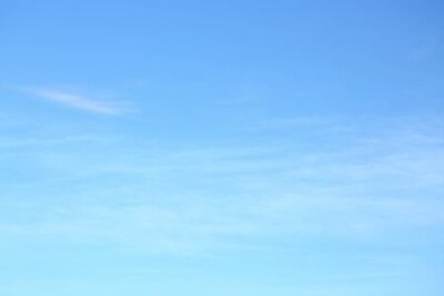 Plakat air on blue sky, clear weather day background