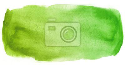 Plakat Akwarela tekstury plama zielony z plamy koloru wody i mokrej farby