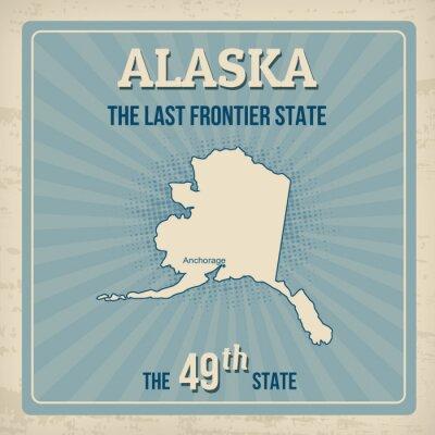 Plakat Alaska podróży vintage plakat