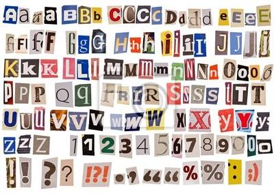 Plakat Alfabet gazety samodzielnie