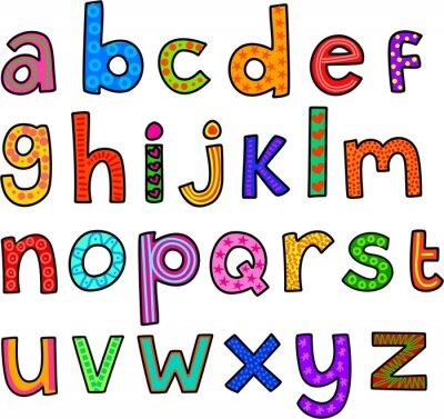 Plakat Alfabet małe litery na wesoło