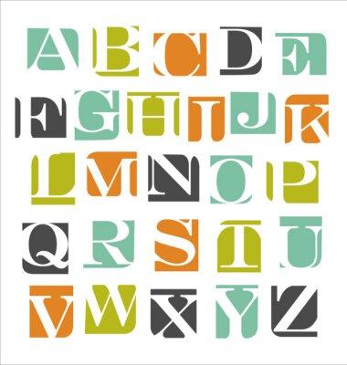 Plakat Alfabet nowoczesny plakat streszczenie