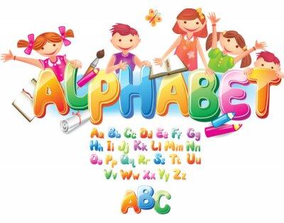Plakat Alfabet z dziećmi