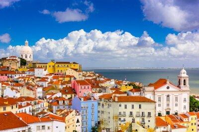 Plakat Alfama Lizbona Pejzaż