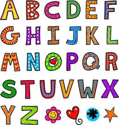 Plakat Alphabet Text Doodle