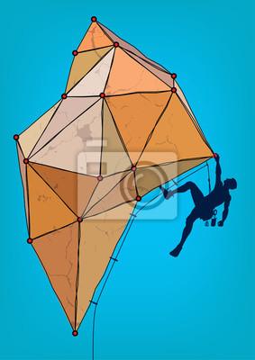 Alpinistą. Szablon do projektowania plakatu