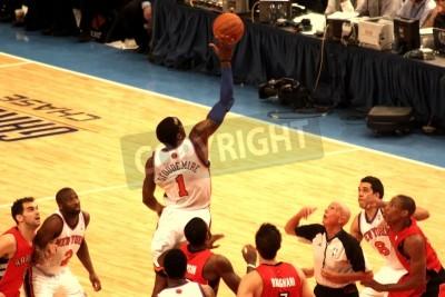 Plakat Amare Stoudemire coraz piłkę podczas meczu NBA Knicks w Madison Square Garden