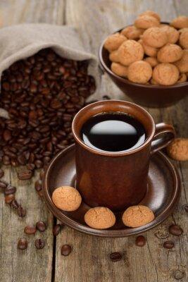 Plakat Amaretti ciasteczka z kawą