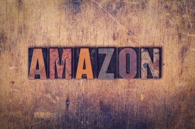 Plakat Amazon Concept drewniane prasą Rodzaj