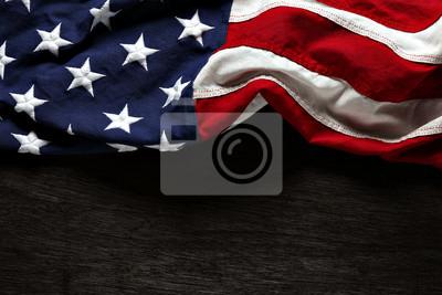 Plakat American flag na Memorial Day lub 4 lipca