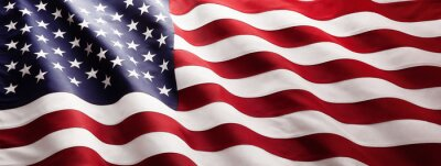 Plakat American Flag Wave Close Up