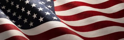 Plakat American Wave Flag Backgroun. USA