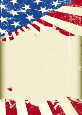 Plakat Amerykańska flaga ramki