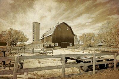 Plakat Amerykańska Wieś - Vintage Design