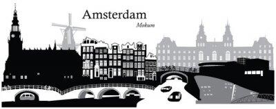 Plakat Amsterdam Cityscape