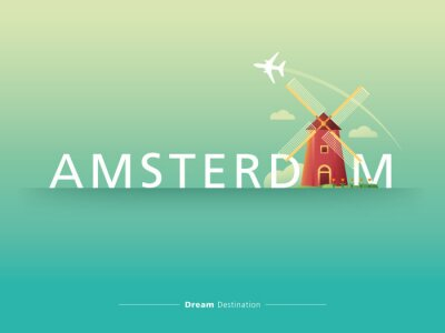 Plakat Amsterdam typografia