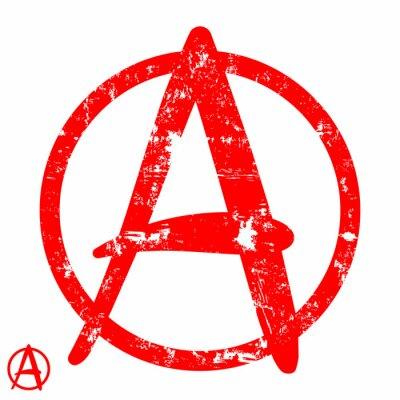 Plakat Anarchia symbol.