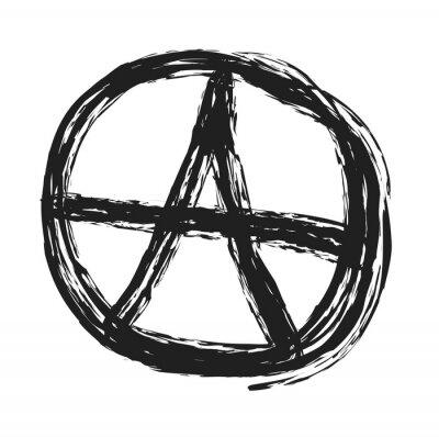 Plakat Anarchia symbol rysunek, punk