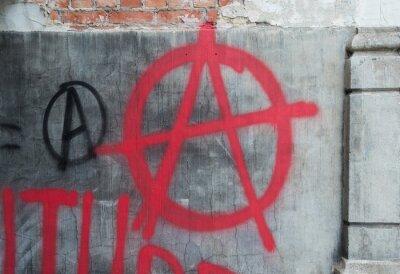 Plakat Anarchy Graffiti