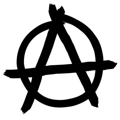 Plakat Anarchy symbol isolated on white background, vector