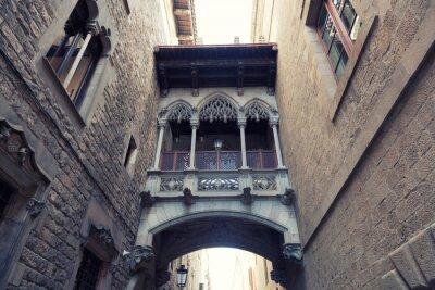 Plakat Ancient arch w Dzielnicy Gotyckiej w Barcelonie