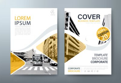 Plakat Annual report brochure flyer design, Leaflet presentation, book cover templates, layout in A4 size. vector.