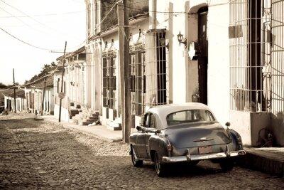 Plakat Antique samochód, Trinidad