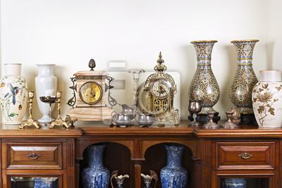 Plakat Antyczne wazy i zegary