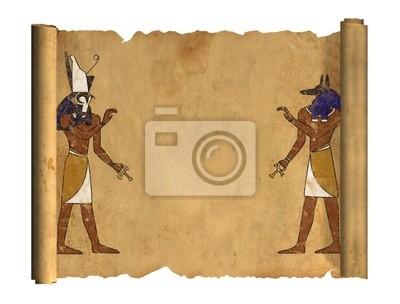 Plakat Anubis i Horus