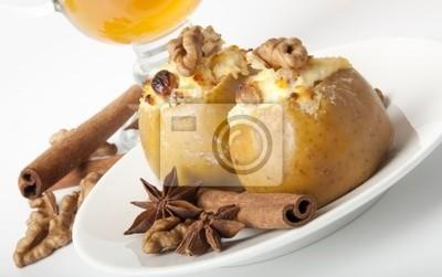 Apetyczny pieczone jabłka z serem