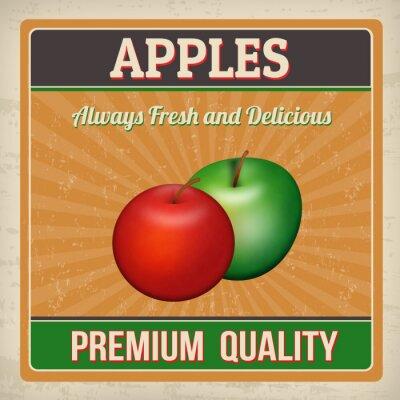 Plakat Apples retro poster
