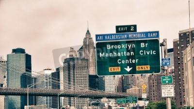 Plakat Architektura i Kolory Nowym Jorku