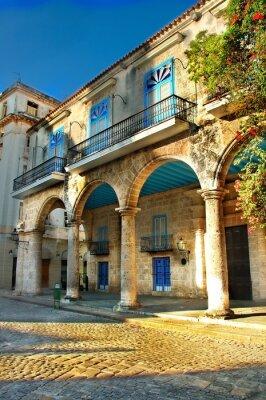 Plakat Architektury kolonialnej w Hawanie