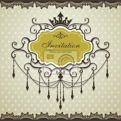 Plakat Archiwalne ramki z korony