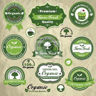 Plakat Archiwalne ramki z organicznych zestaw szablonów etykiet