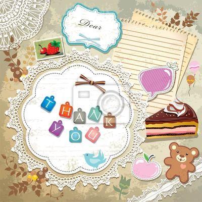 Plakat Archiwalne ramki z szablonu Cupcake