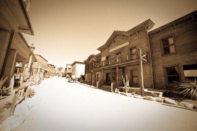 Plakat archiwalne zdjęcie z Dalekiego zachodniej miasta