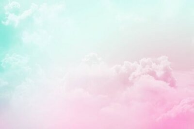 Plakat artistic soft cloud and sky with pastel color  ,nature abstract background
