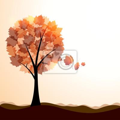 Plakat Artystyczna jesień krajobraz