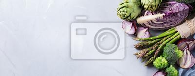 Plakat Asortyment świeżych ekologicznych warzyw rolnych