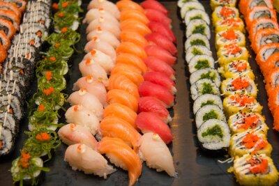 Plakat Assorted japońskie sushi
