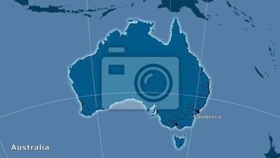 Plakat Australia, stałe - skład